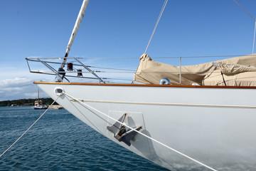 detail of a sailing boat in Croatia