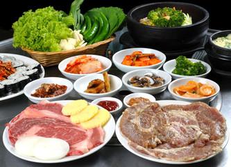 Korean bbq set