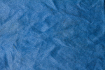 Old blue microfiber cloth Textile texture and Background.
