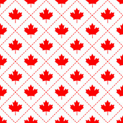 Canadian maple leaf symbol seamless pattern
