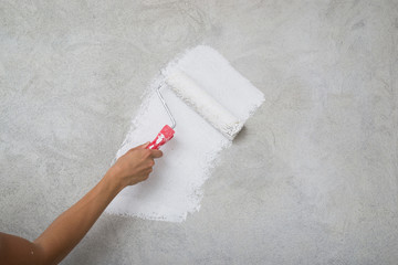 Painting the walls in white color