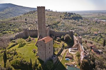 The castle of Montecchio in Castiglione Fiorentino - Tuscany, Italy
