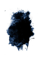 Black watercolor paint banner with brushstrokes