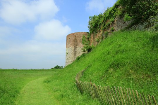 towers of citadelle of Montreuil on sea, PAS DE CALAIS, NORTH OF FRANCE