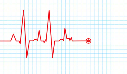 cardiogram vector background