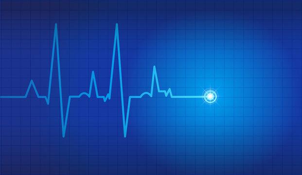 cardiogram vector background