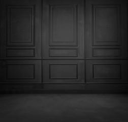 Black room interior design