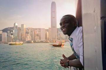 Boat trip in Hong Kong