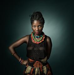 african model looking