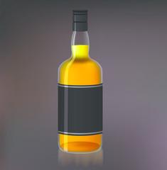 Bottle of whiskey for your design