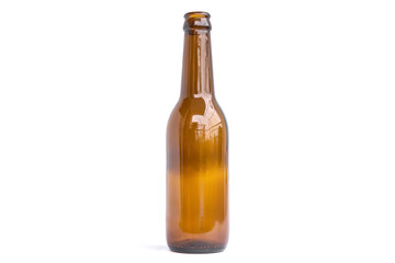 Glass bottles for beer, alcohol or other beverage industry isolated on white background.