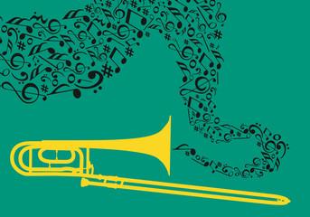 Instrument Couleur 6 - Trombone