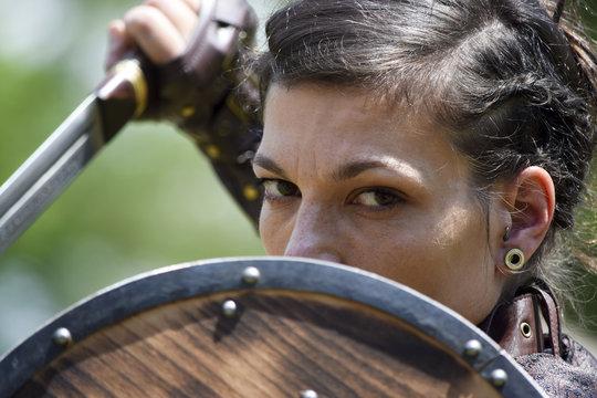 Closeup of a warrior