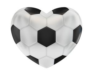 Ball für Fußball in der Form des Herzens