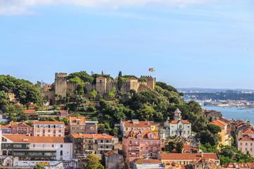 Vista do Castelo de São Jorge em Lisboa Portugal
