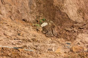 Close slide soil erosion.