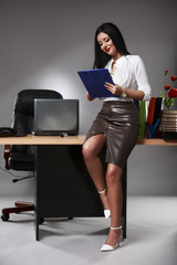 Portrait of a business woman in an office