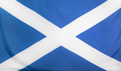 Scotland Flag real fabric seamless close up