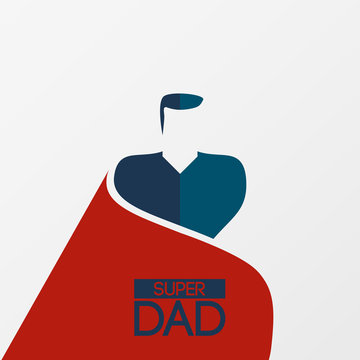 Fathers day design with superhero superdad. Vector illustration