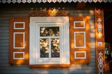 Traditional wooden house, Poland