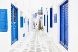 Street in Mykonos town, Mykonos island, Cyclades, Greece