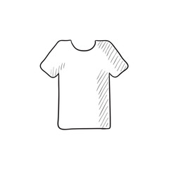T-shirt sketch icon.