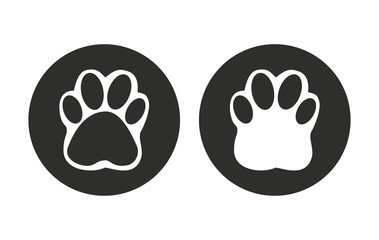 Paw - vector icon