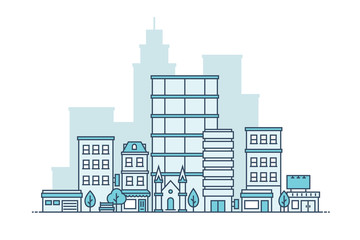 Simple City Vector Illustration