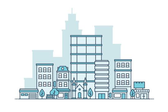 Simple City Vector Illustration