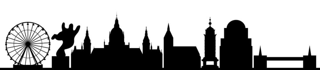 Hannover skyline schwarz // Vektor