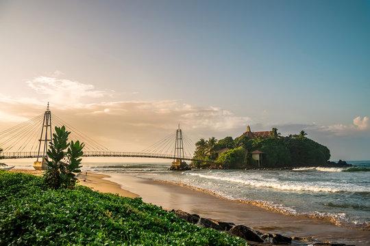 Nature of Asia. Matara morning, Sri Lanka.