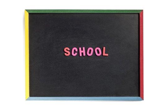 empty slate with school on it