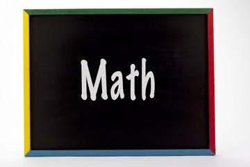 math written on slate board