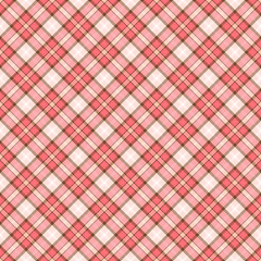 Seamless wall-paper plaid, coral