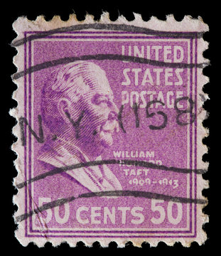 United States used postage stamp showing President William Howard Taft