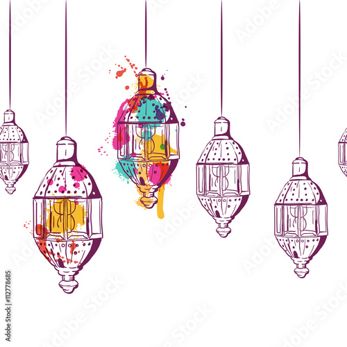 Painting Lanterns With Water Colour