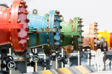 Oil pipeline of tanker