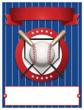 Blank Baseball Flyer Template Illustration