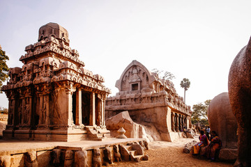 One of the ancient architectural wonders of the Pallava kings in