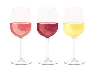 red wine, white wine, rose wine