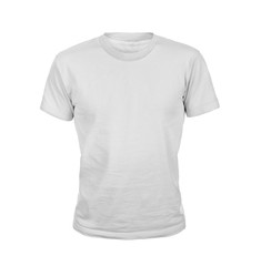 White T-shirt isolated on white background