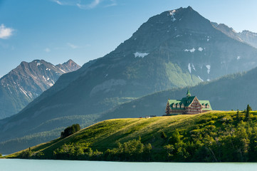 Price of wales hotel by mountains, waterton lakes national park