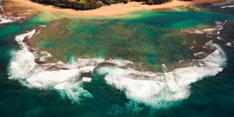 Aerial Reef in Kauai