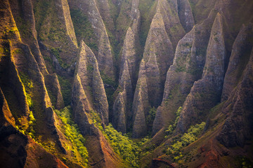 Rocky valley at Na Pali Coast State Park, Kauai, Hawaii, USA