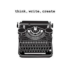 Vintage vector illustrations of retro typewriter