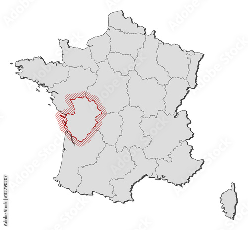 Poitou France Map.Map France Poitou Charentes Stock Image And Royalty Free Vector