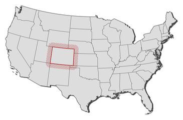 Map - United States, Colorado