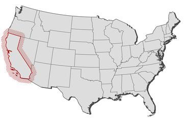 Map - United States, California