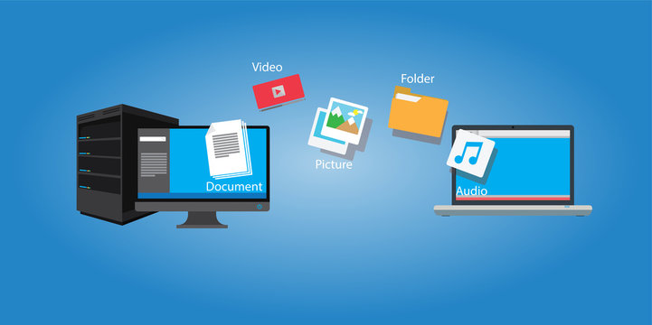 file transfer copy document and media from computer to laptop