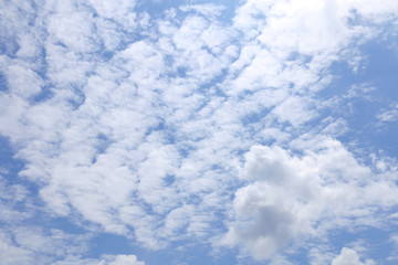 fresh blue sky and fluffy cloud background #2